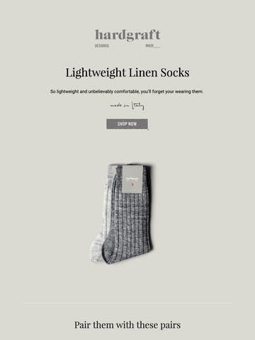 Made in Italy Linen Socks – Now Online Thumbnail Preview