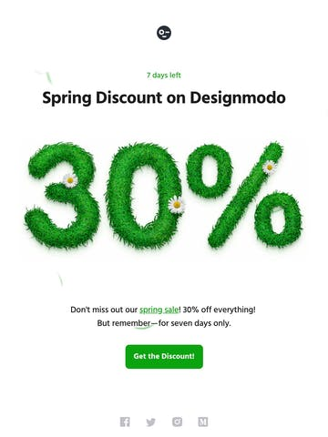 Spring Discount on Designmodo, 30% OFF with coupon code: SPRING Thumbnail Preview