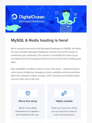 Managed Databases for MySQL & Redis are now available! Thumbnail Preview