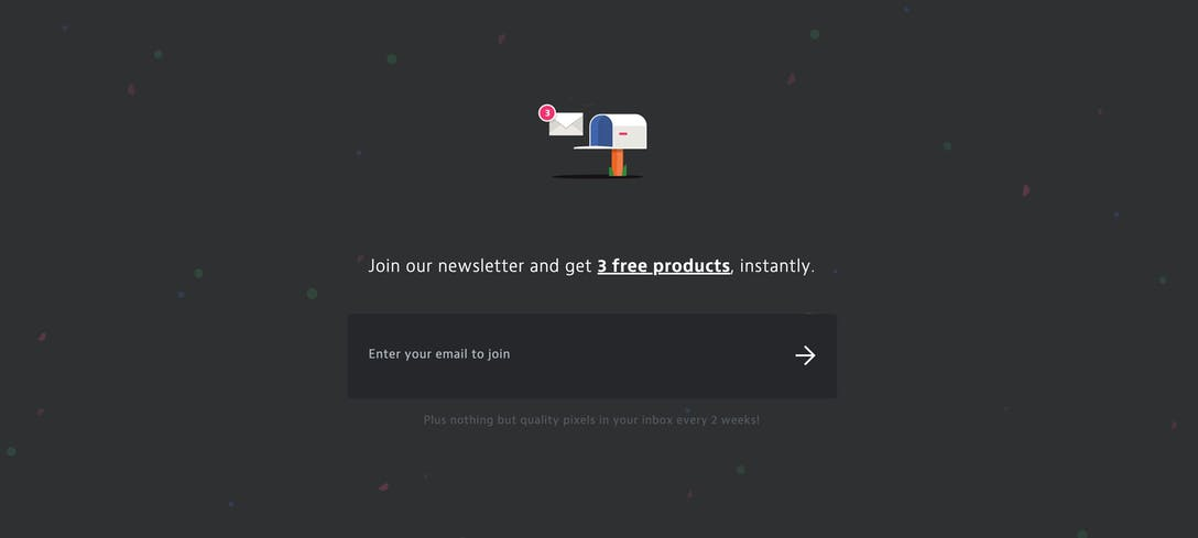 UI8 Newsletter Sign Up Box
