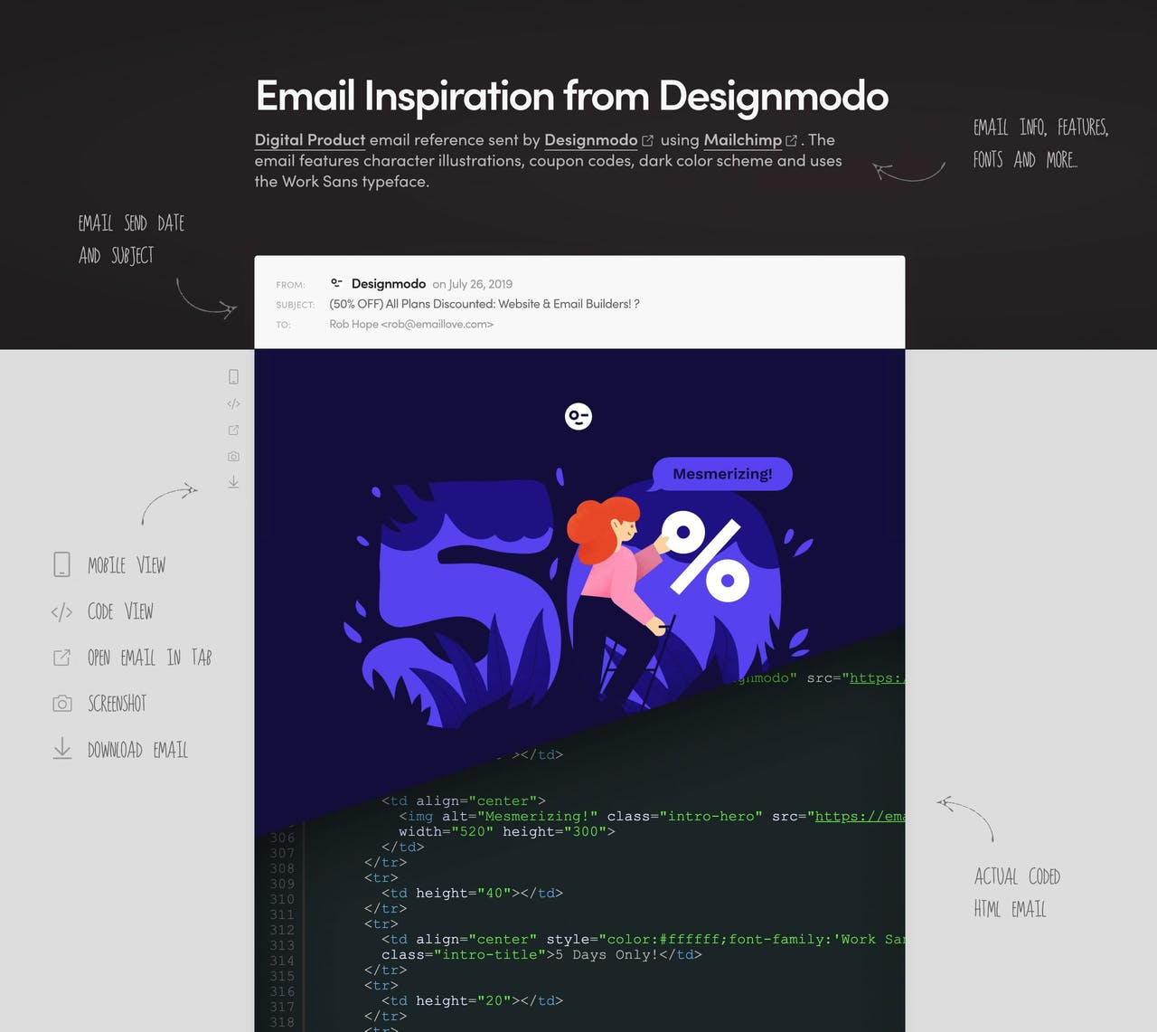 Email Love - email inspiration breakdown Screenshot