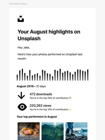 Your August highlights on Unsplash Thumbnail Preview