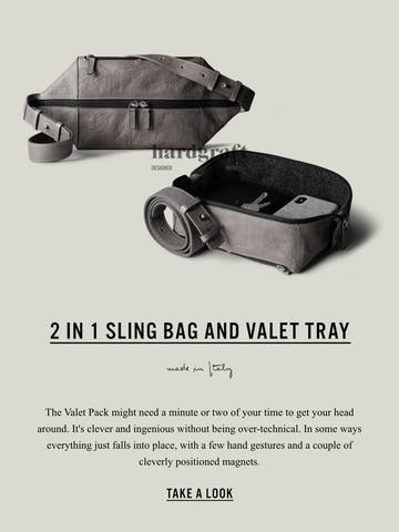 2 in 1 Sling Bag and Valet Tray Thumbnail Preview