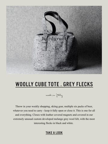 New Woolly Cube Tote Thumbnail Preview