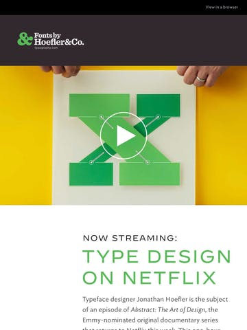 Typeface design on Netflix! Thumbnail Preview