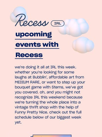 Recess IRL – our biggest week yet Thumbnail Preview