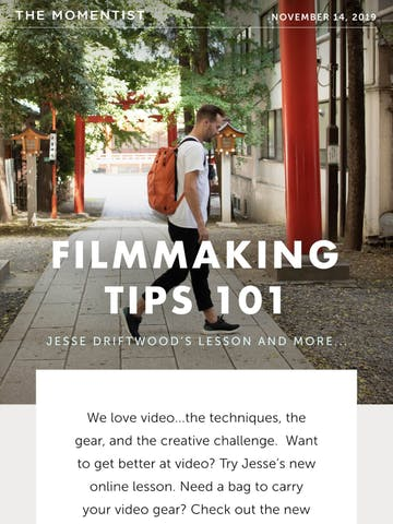 Filmmaking Tips 101: Jesse Driftwood's Lesson and more… Thumbnail Preview