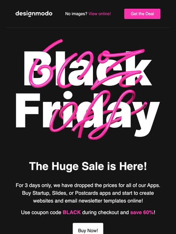 Black Friday on Designmodo, 60% Discount! Thumbnail Preview