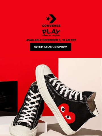 Back to PLAY: Converse x Comme des Garçons Thumbnail Preview
