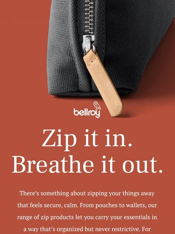 Zip it! See our top picks with calm-inducing zips. Thumbnail Preview