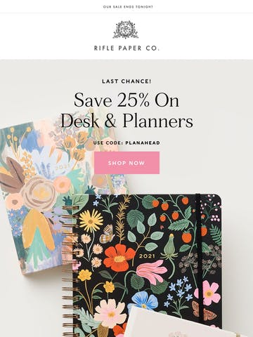 Save 25% On Planners! Thumbnail Preview