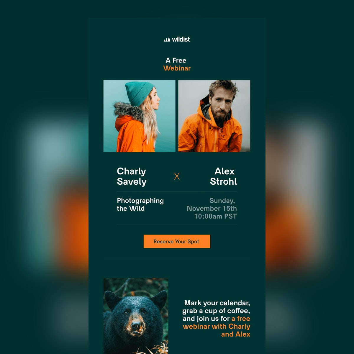 A Free Webinar with Alex Strohl and Charly Savely