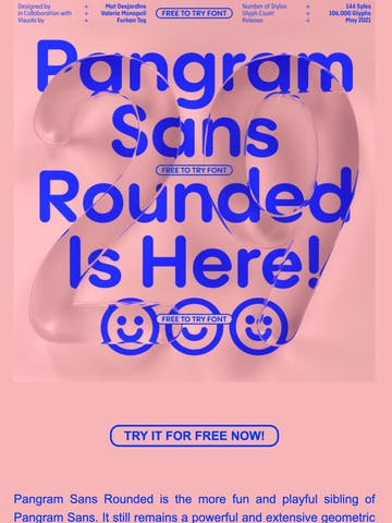 Pangram Sans Rounded is here! Thumbnail Preview