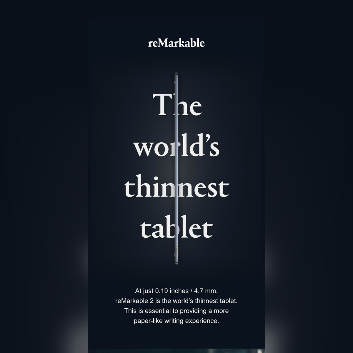 The world's thinnest tablet